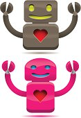 Two robots in love.