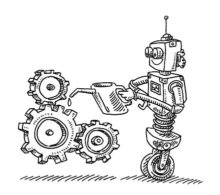 Robot Lubricating Gears Drawing