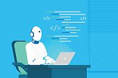 Robot online assistance and machine learning
