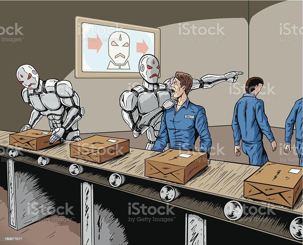 Robot de reemplazo - arte vectorial de Adulto libre de derechos