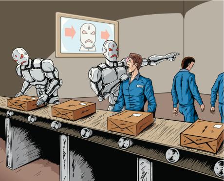 Ilustración de Robot De Reemplazo y más Vectores Libres de Derechos de Adulto
