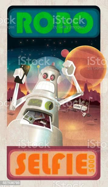 Robot selfie and mars or outerspace scene poster vector id537536793?b=1&k=6&m=537536793&s=612x612&h=nkpfgme1utwt1ndz8zroersvkru11jbjbea4dhdteh0=