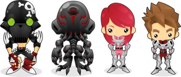 ロボット代表 - 漫画のモンスター点のイラスト素材/クリップアート素材/マンガ素材/アイコン素材