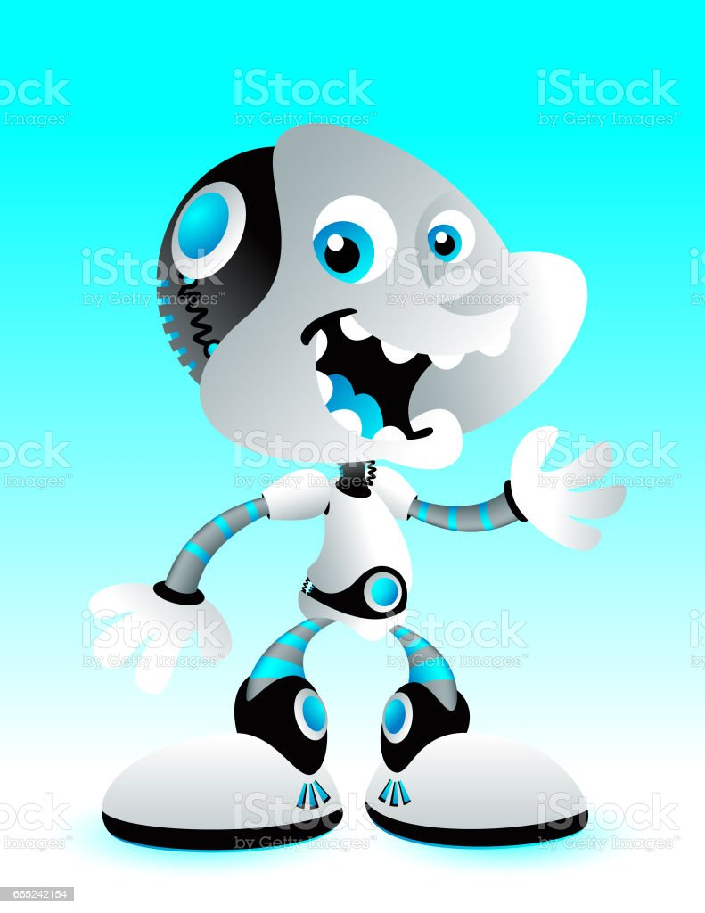 Robot Standing royalty-free robot standing stock vector art & more images of blue
