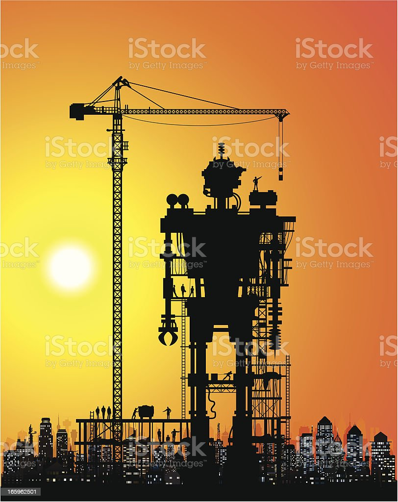 Robot Under Construction royalty-free robot under construction stock vector art & more images of building - activity