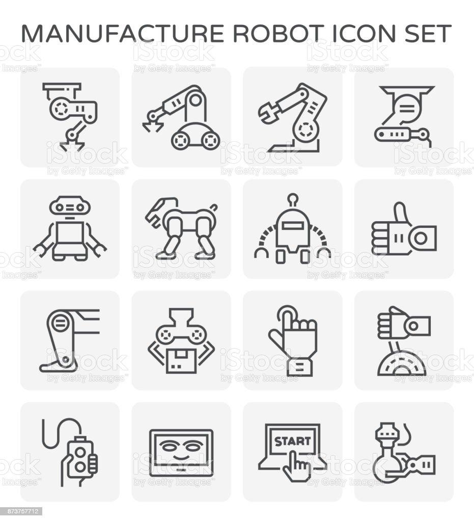 robot vector icon vector art illustration