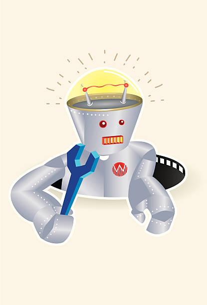 Robot vector art illustration