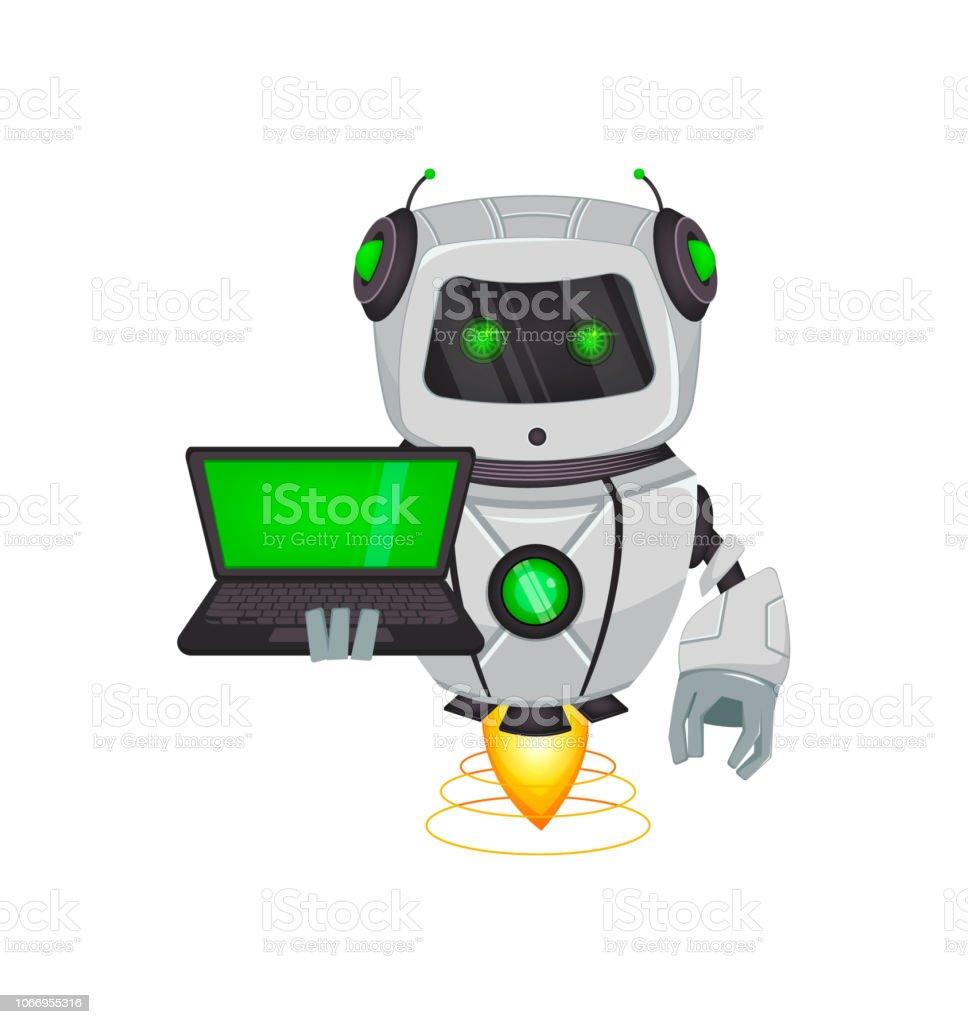 Roboter Mit Künstlicher Intelligenz Bot Stock Vektor Art und mehr ...