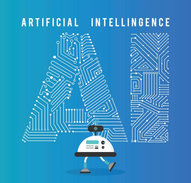 robot with intelligence artificia concept. - artificial intelligence stock illustrations, clip art, cartoons, & icons