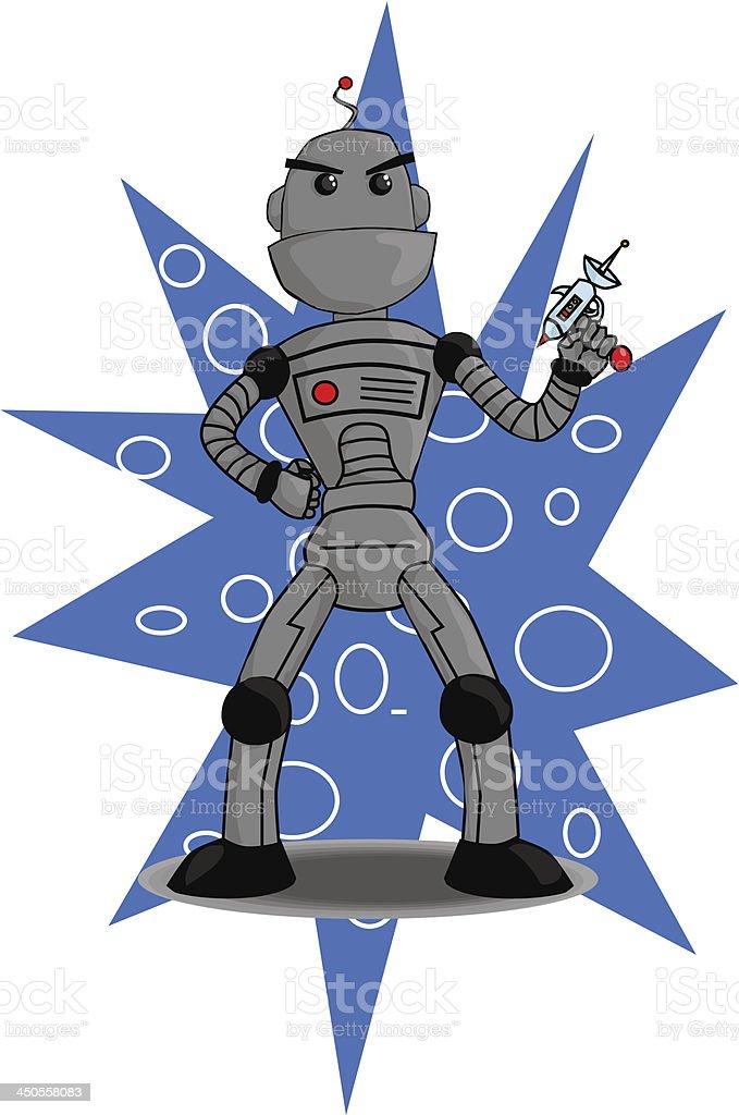 Robot with Laser Gun royalty-free stock vector art