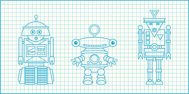 Royalty free robot blueprint clip art vector images illustrations robotblueprintc vector art illustration malvernweather Images