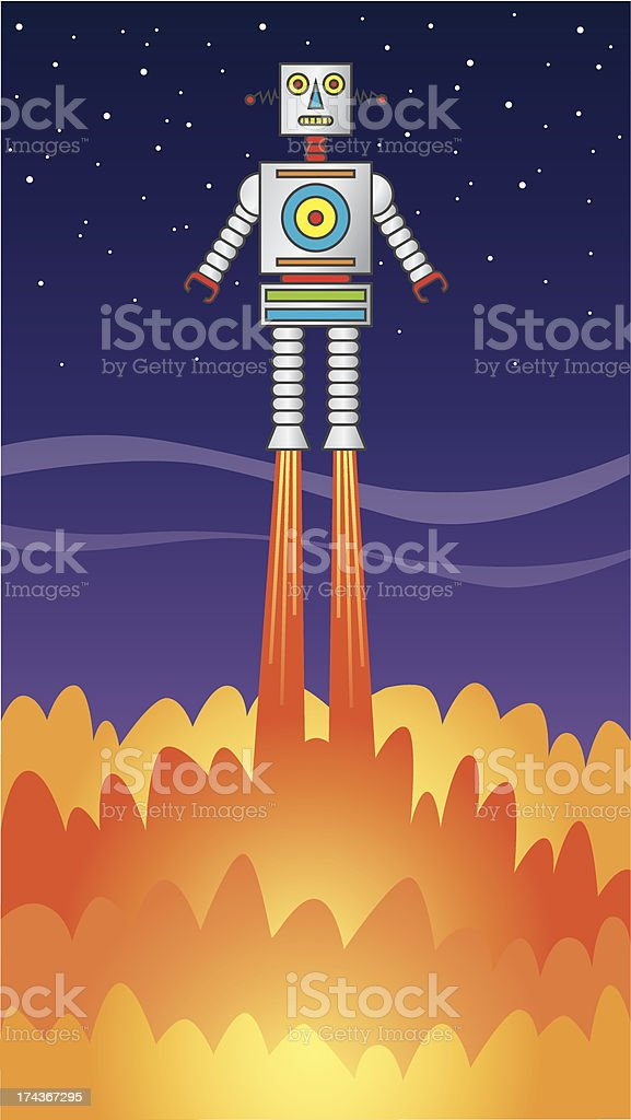 robot_launch royalty-free stock vector art