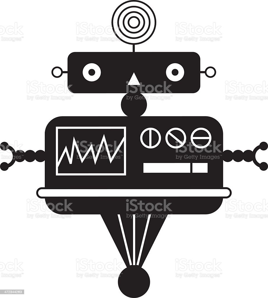 RobotCbw royalty-free stock vector art