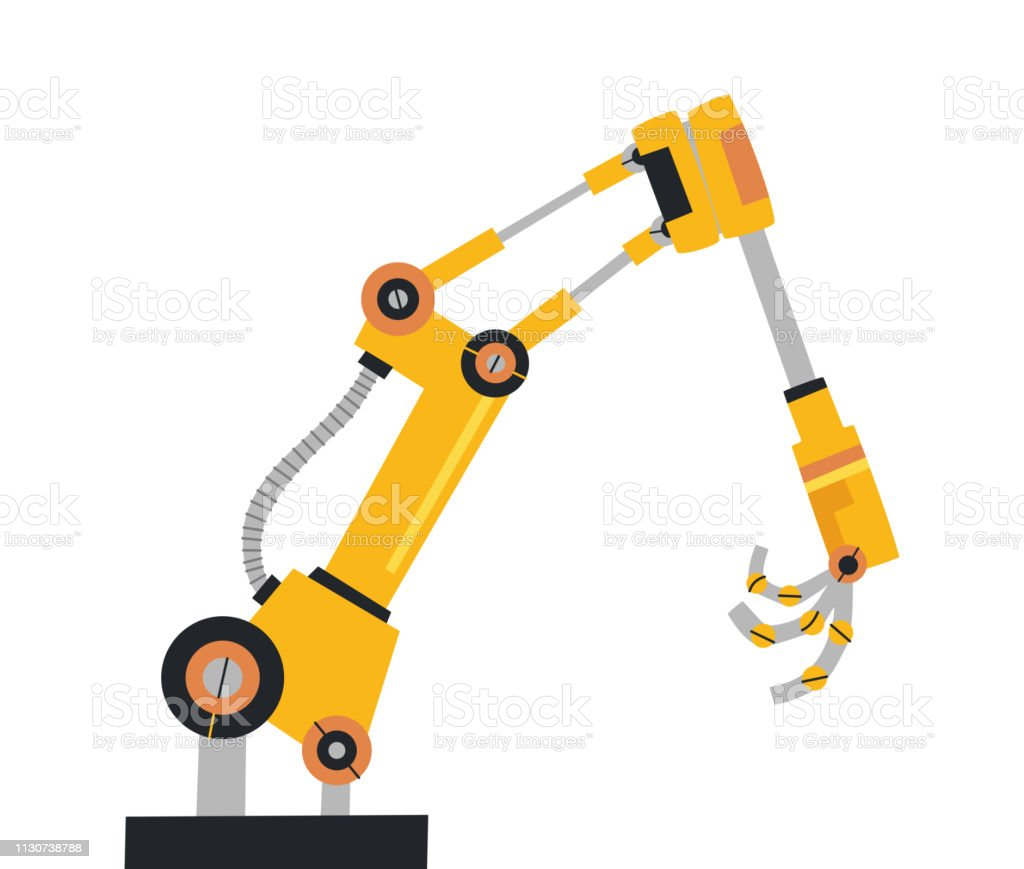Robotic Arm Hand Vector Robot Icons Set Industrial Technology And