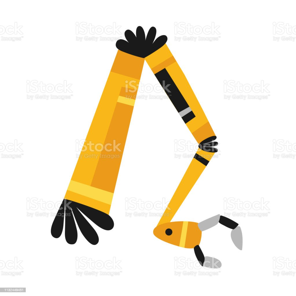 Robotic Arm Hand Vector Robot Icons Set Industrial