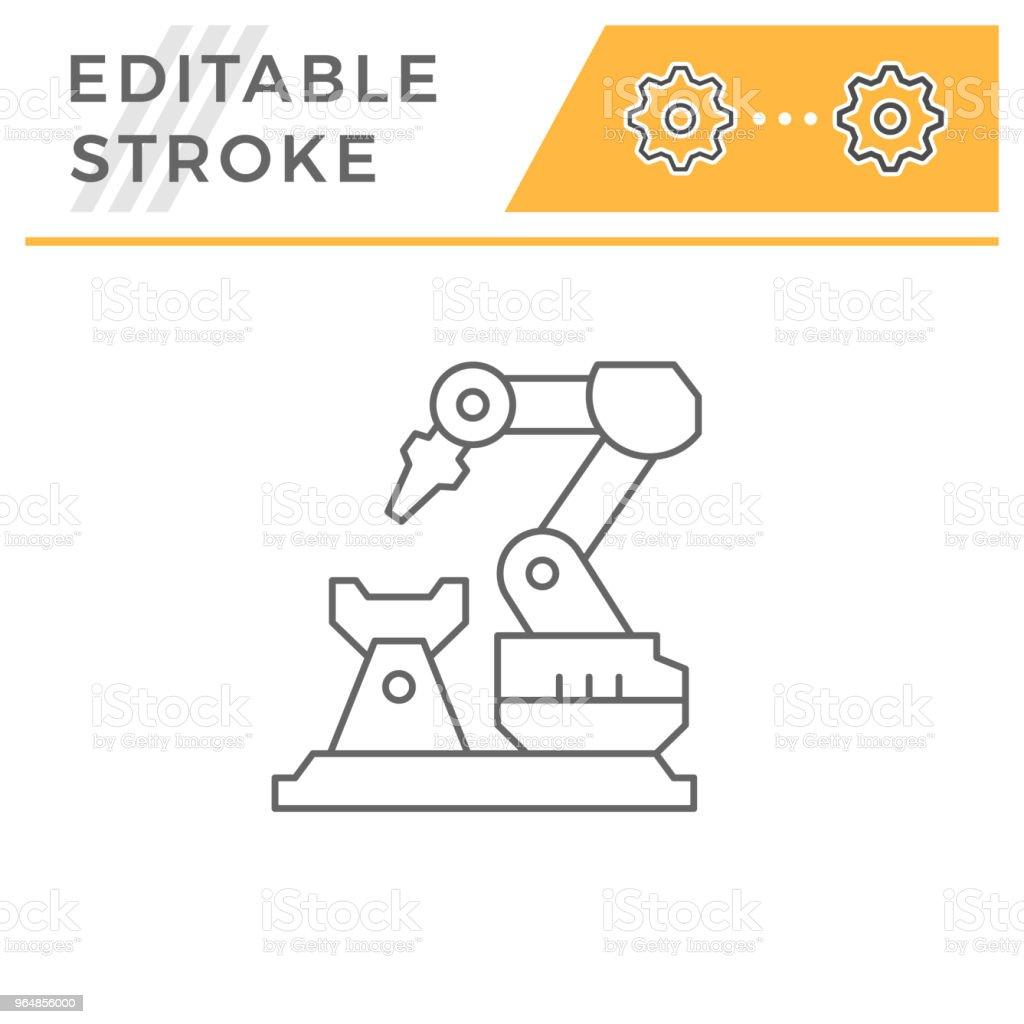 Robotic arm machine line icon royalty-free robotic arm machine line icon stock vector art & more images of arm
