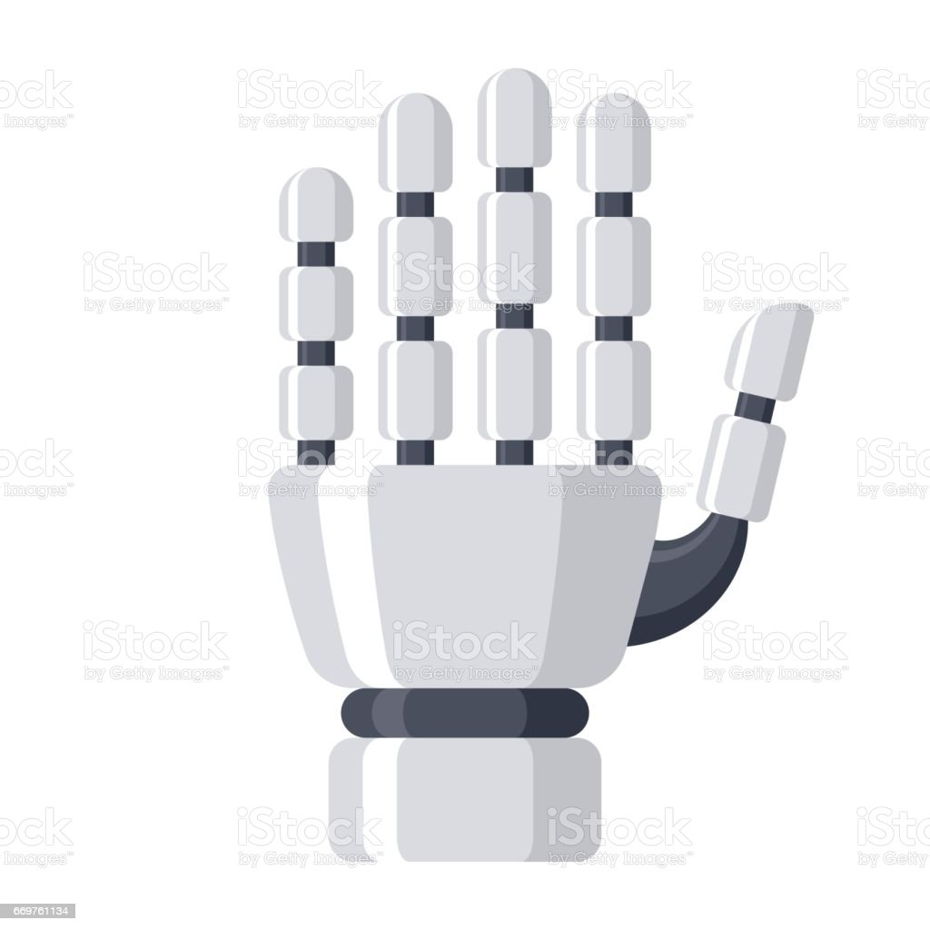 Robotic Mechanical Arm vector art illustration