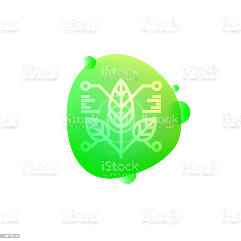 Robot bitki sensör simgesi - Royalty-free ABD Vector Art