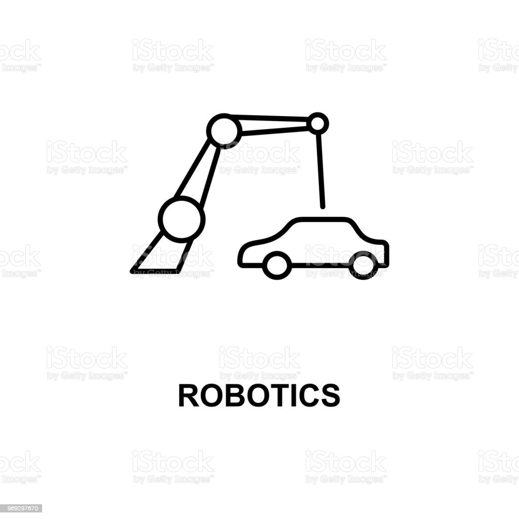 Robotics Car Production Icon Element Of Technologies Icon With Name