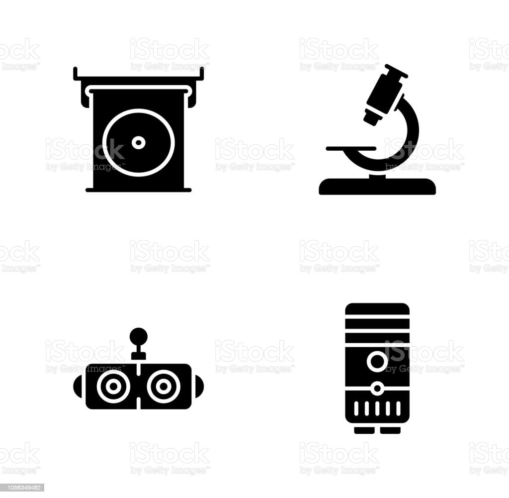 Robotics Engineering Vector Icons Stock Vector Art More Images Of