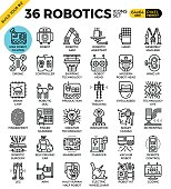 robotics icon set