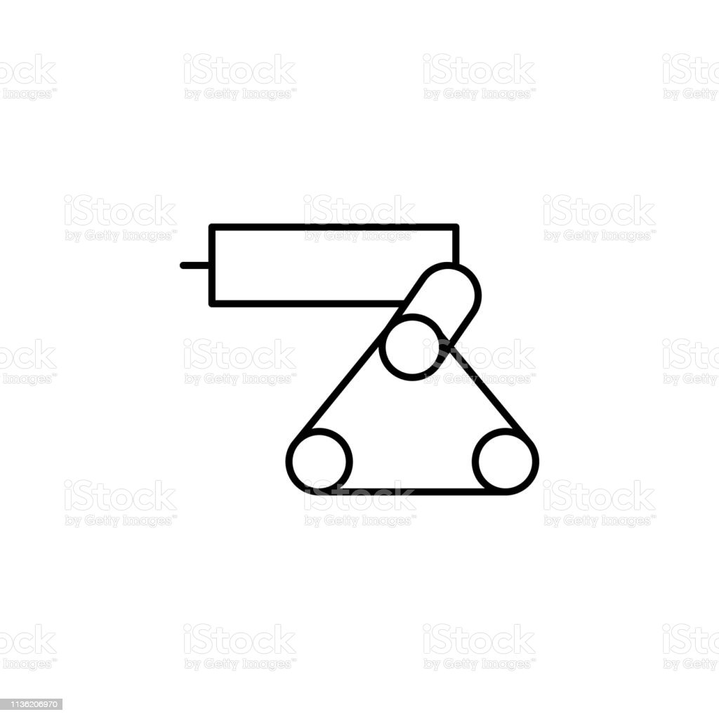 Robotics Industrial Robot Outline Icon Signs And Symbols Can