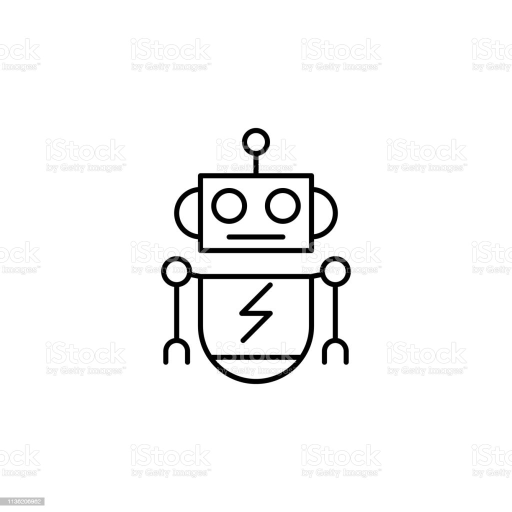Robotics Robot Outline Icon Signs And Symbols Can Be Used