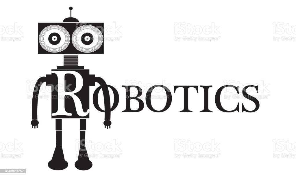 Robotics Word Logo Conceptual Illustration Stock Vector Art More