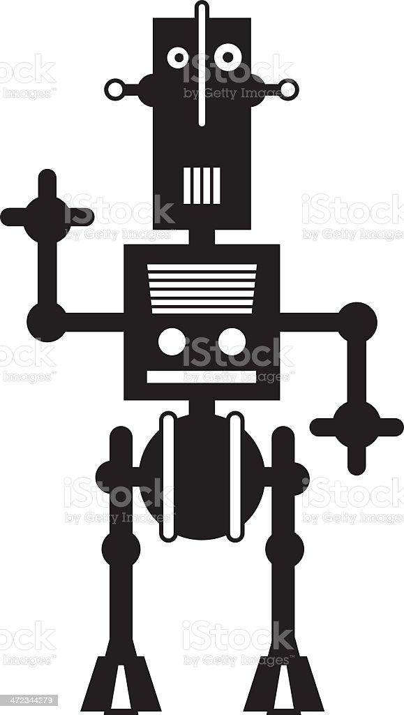 RobotJbw royalty-free stock vector art