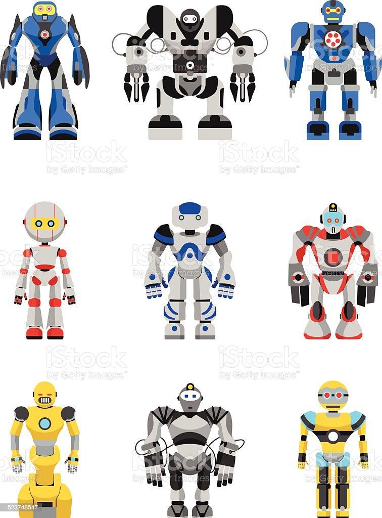 ロボットセット ベクターアートイラスト