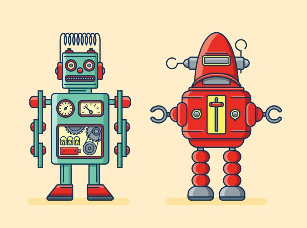 robots - robotics stock illustrations, clip art, cartoons, & icons