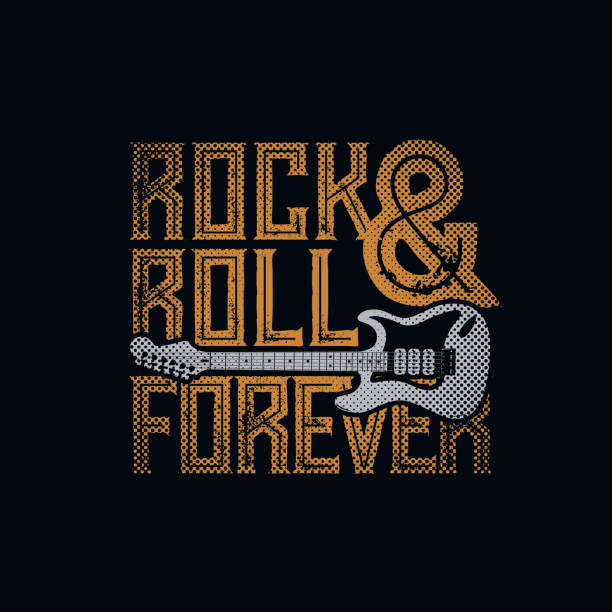 rock and roll forever - rock n roll stock illustrations, clip art, cartoons, & icons
