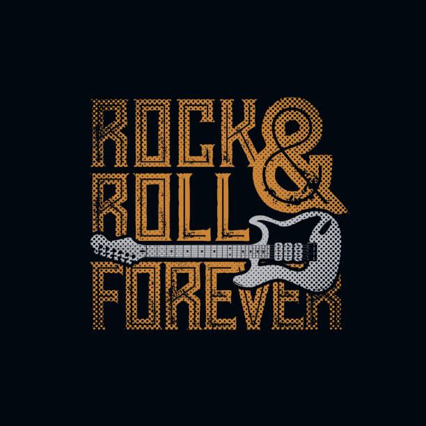 ilustrações, clipart, desenhos animados e ícones de rock and roll para sempre - música rock