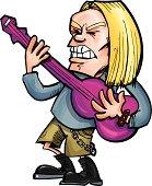 Rock guitarist who has long hair and grunge fashion sense