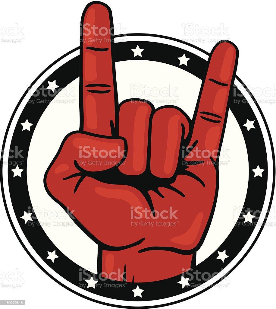 Rock and Roll Hand vector art illustration