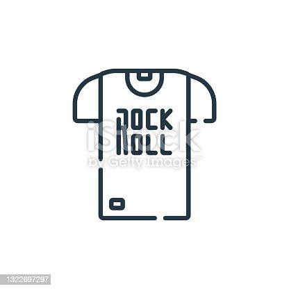 istock rock and roll icon vector from rock and roll concept. Thin line illustration of rock and roll editable stroke. rock and roll linear sign for use on web and mobile apps, logo, print media.. 1322697297