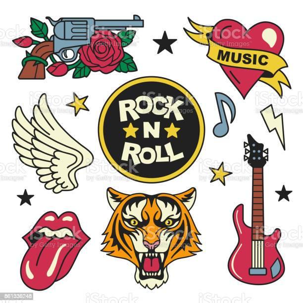 Rock and roll patches collection vector id861336248?b=1&k=6&m=861336248&s=612x612&h=kquyn4pe9 mviwqdb2f bpmldqjis9sa9il8aeeffpa=