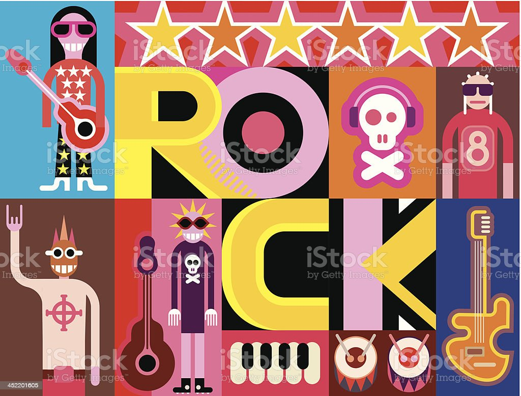 Rock and Roll royalty-free stock vector art