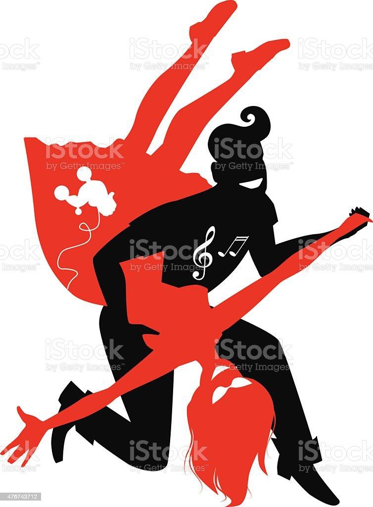 Rock and roll vector art illustration