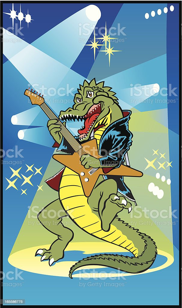 Rock Around the Croc royalty-free rock around the croc stock vector art & more images of alligator