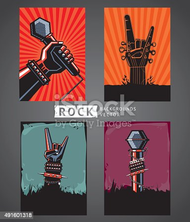 Four templates for rock posters.