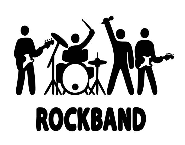 Best Rock Band Illustrations, Royalty-Free Vector Graphics ...