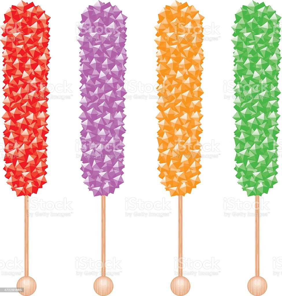 Rock Candy Sticks vector art illustration