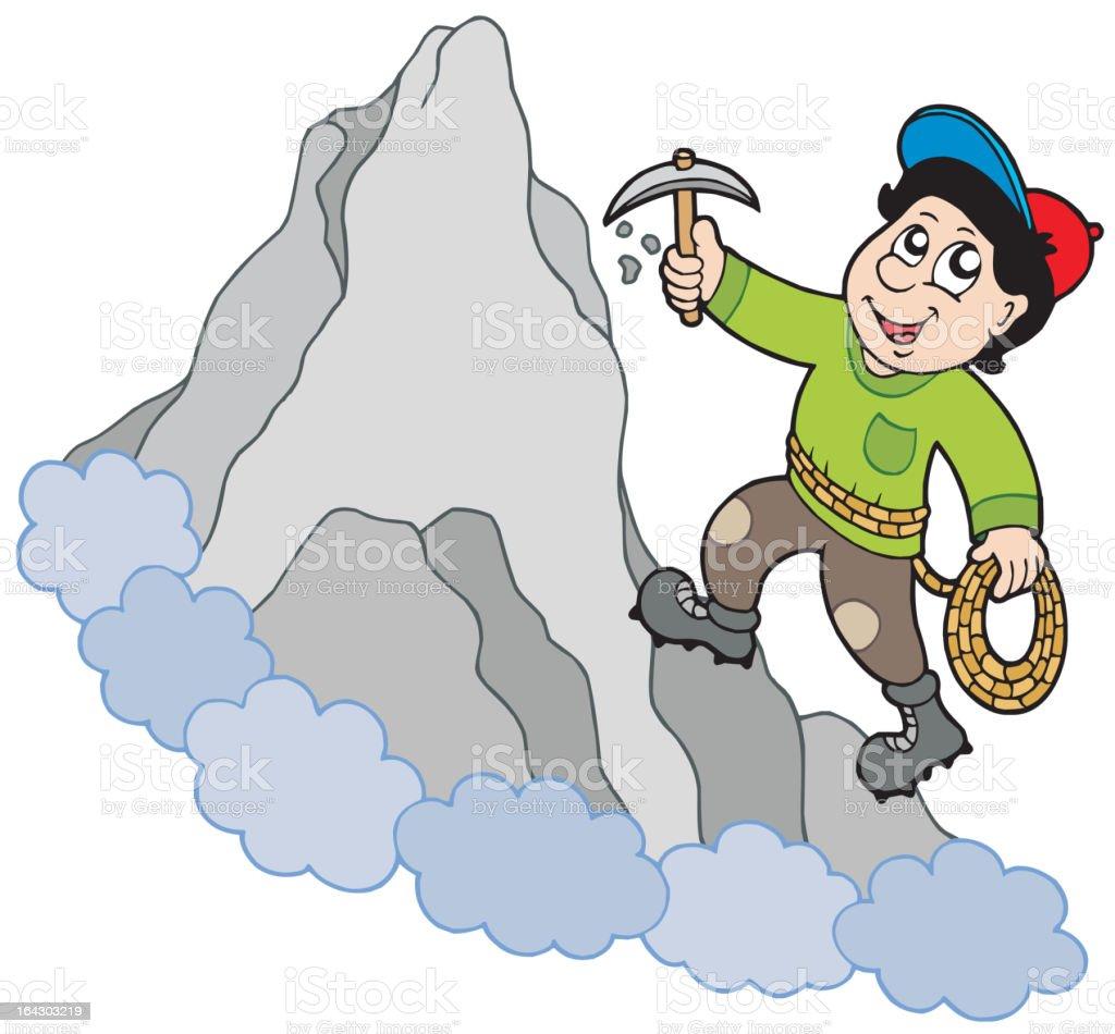 Rock climber on mountain royalty-free stock vector art