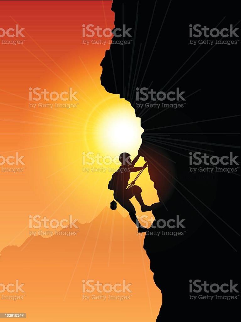 Rock climber - illustrazione arte vettoriale