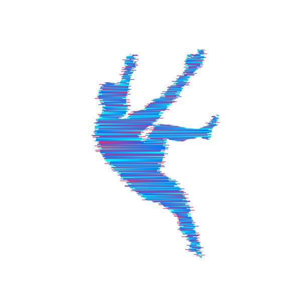 Rock climber silhouettes. Bouldering sport. Vector illustration for design. - illustrazione arte vettoriale