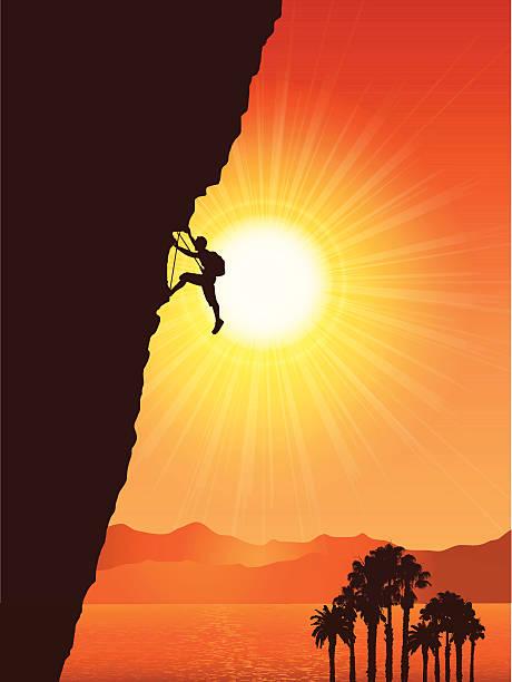 rock climber - rock climbing stock illustrations, clip art, cartoons, & icons