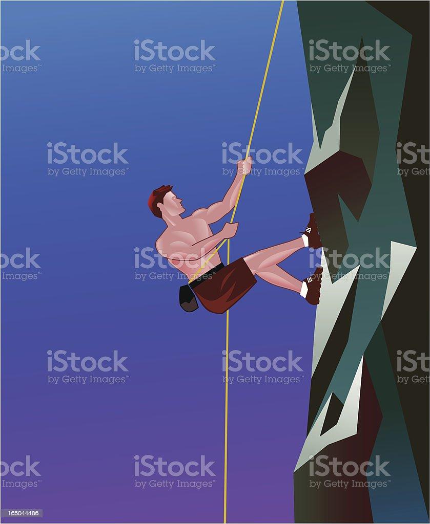 Rock Climber vector art illustration
