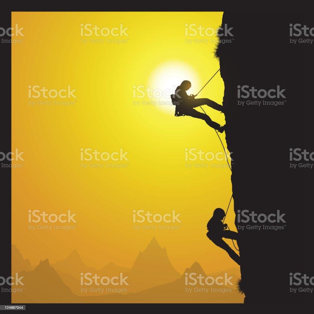 rock climbers royalty-free stock vector art