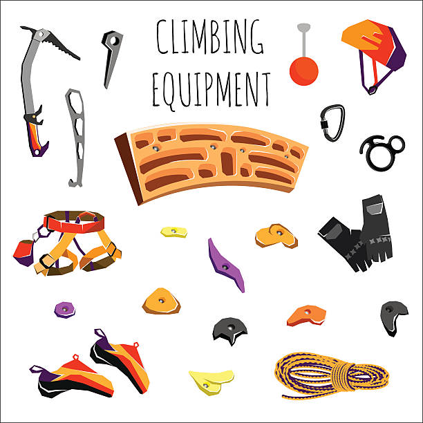 rock climbing equipment – Vektorgrafik